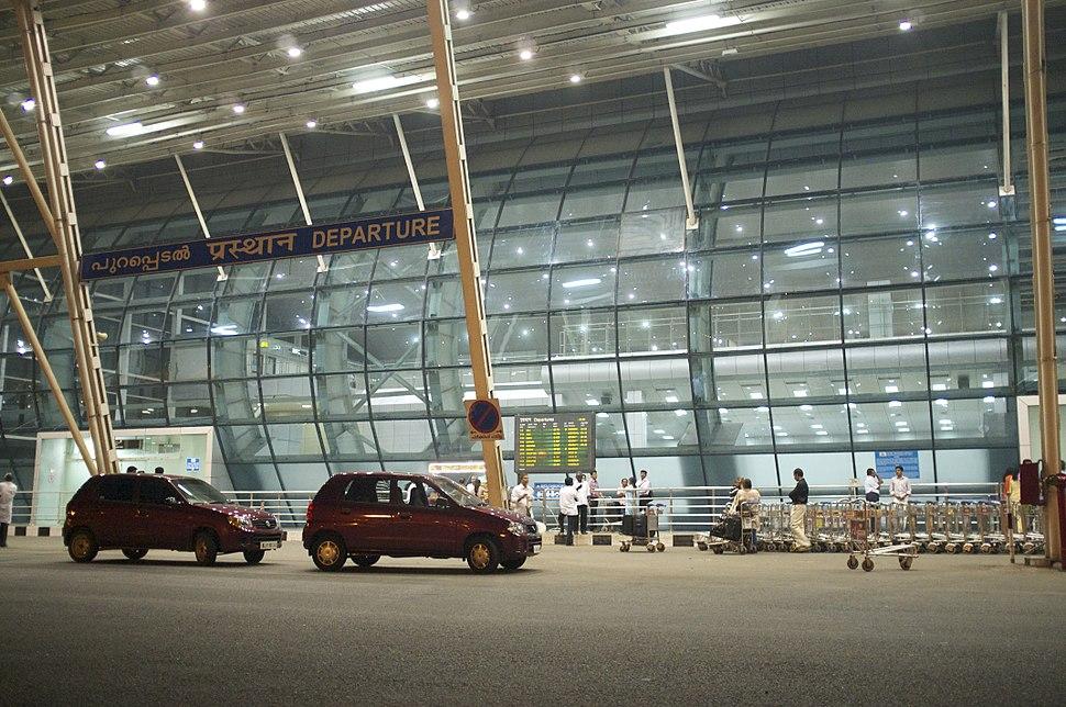 Departures terminal Trivandrum International Airport Kerala India