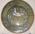 Deruta maiolica, piatto con busto femminile, 1510-40 ca..JPG