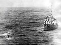 Destroyer rescues men from USS Enterprise (CV-6) in May 1945.jpg