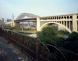 Detroit–Superior Bridge - The Detroit-Superior Bridge in 1978