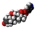 Dexamethasone isonicotinate 3D spacefill.png