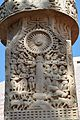 Dharmachakra on Pillar - South Face - West Pillar - South Gateway - Stupa 1 - Sanchi Hill 2013-02-21 4355.JPG