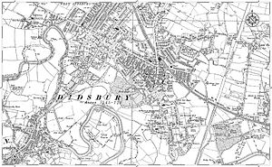 Didsbury - Ordnance survey map of Didsbury from 1905
