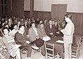 Direktor tovarne železniških vozil Boris Kidrič inž. Marko Kržišnik na zboru občanov na Studencih 1962.jpg