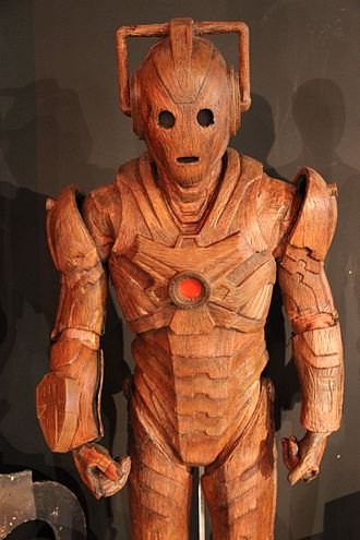 The Time of the Doctor - The wooden Cybermen as it appears at the Doctor Who Experience