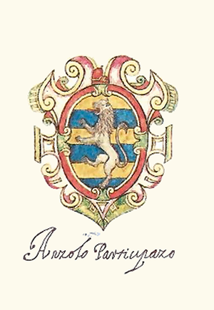 Agnello Participazio - Coat of arms of Angelo Participazio. Doge of Venice.