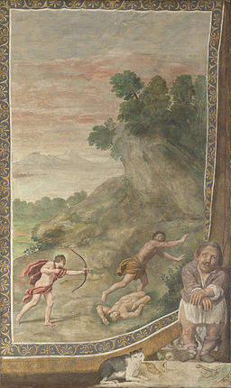 Domenichino and assistants - Apollo killing the Cyclops - Google Art Project