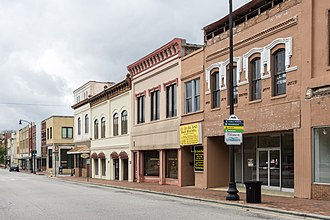 Lumberton, North Carolina - A view down Elm Street in Lumberton