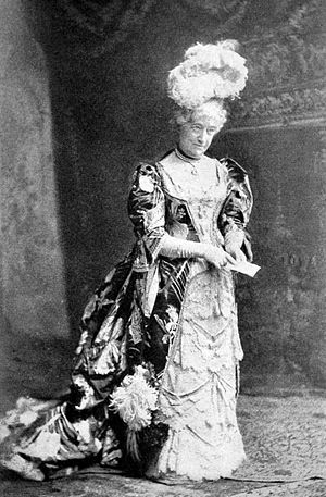 Louisa Lane Drew - Mrs. John Drew as Mrs. Malaprop in an all-star Broadway revival of The Rivals (1895)