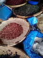 Dried beans and vegetables, Blantyre market, Malawi.jpg