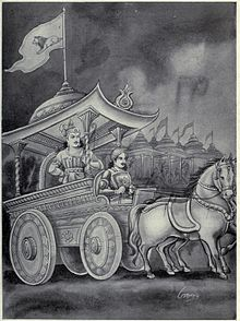 Drishtadyumna as Commander in chief of Pandava's Army.jpg