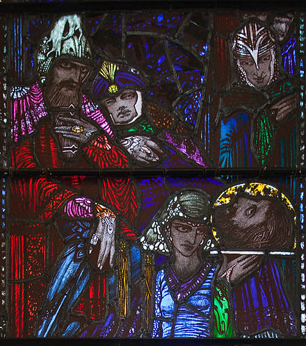 Detail of the Beheading of John the Baptist window by Harry Clarke