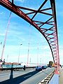 Duisburg – die Brücke der Solidarität verbindet die Stadtteile Hochfeld und Rheinhausen - panoramio.jpg