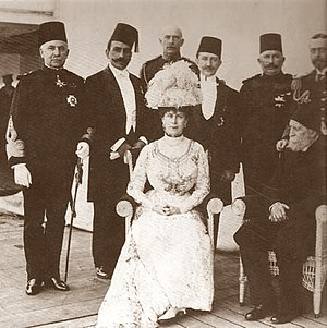 Kâmil Pasha - Kamil Pasha with British, Egyptian and Turkish royalty in 1911