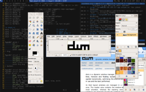 Tiling window manager - The dwm tiling window manager