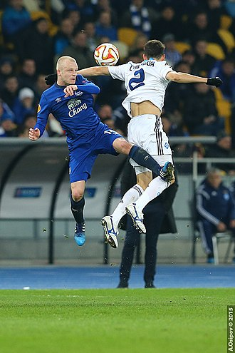 Steven Naismith - Naismith playing for Everton against Dynamo Kyiv in 2015