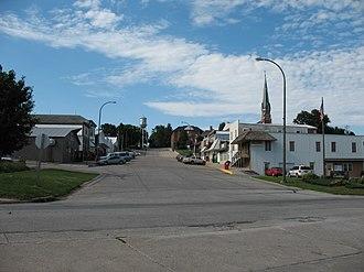 Earling, Iowa - View of Earling main street looking north