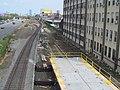 East end of Boston Landing platform with ramp construction, August 2016.JPG