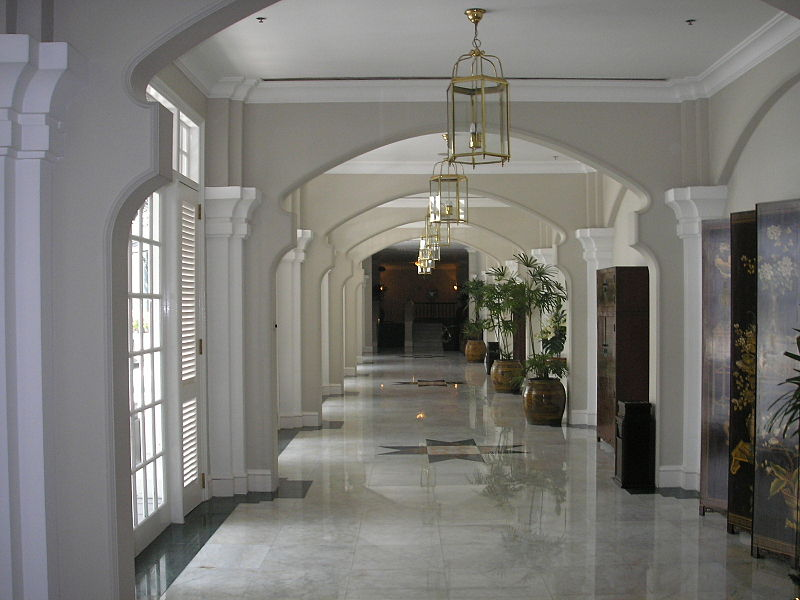 One of the main corridors of the E & O