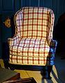Easy chair, Boston, 1740-1790, mahogany, maple, white pine - Concord Museum - Concord, MA - DSC05675.JPG