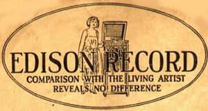 Edison Disc Record - Edison Records logo from 1910s sleeve