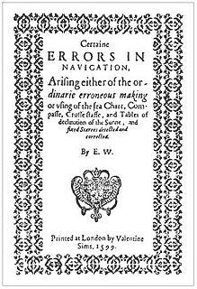 Edward Wright (mathematician) English mathematician and cartographer (1561–1615)