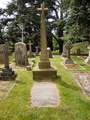Edward Teshmaker Busk - The grave of Edward Teshmaker Busk in Aldershot Military Cemetery