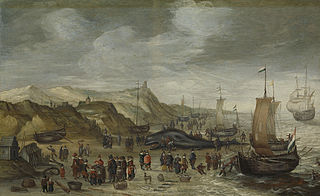 A Sperm Whale Washed up on the Beach at Noordwijk, 28 December 1614