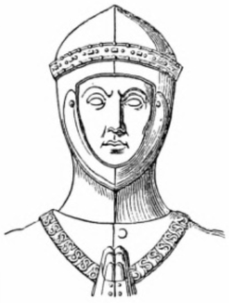 John Beaufort, 1st Earl of Somerset - Drawing of effigy of John Beaufort 1st Earl of Somerset, wearing a Collar of SS, Canterbury Cathedral