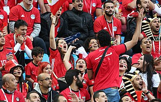 Egypt's fans at the FIFA World Cup in Russia Egyptians fans FIFA 2018.jpg