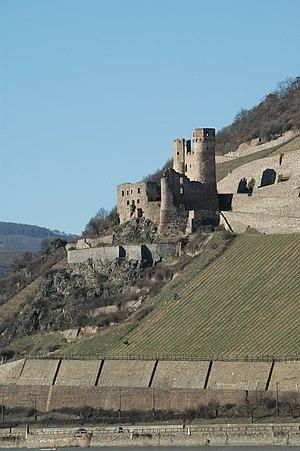 Hillside castle - Ehrenfels Castle on the Rhine