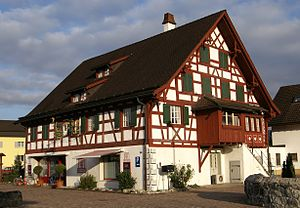 Oberriet - Half timbered house in the center of Oberriet