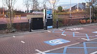 Electric car charging point, Cluster of Nuts car park, Wetherby (8th April 2020).jpg
