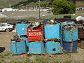 Electronic waste stockpile, Christchurch, New Zealand.JPG