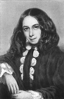 A portrait of Elizabeth Barrett Browning