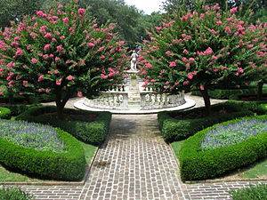 Fort Raleigh National Historic Site - The sunken gardens at the Elizabethan Gardens