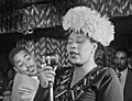 Ella Fitzgerald with Dizzy Gillespie at Downbeat, New York, N.Y., ca. Sept. 1947 (William P. Gottlieb) (cropped).jpg