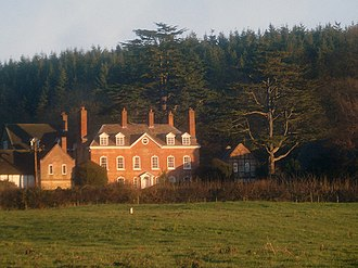 Thomas Andrew Knight - Elton Hall, residence of Thomas Andrew Knight, before he inherited nearby Downton Castle from his elder brother