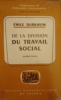 <i>The Division of Labour in Society</i> book by Émile Durkheim