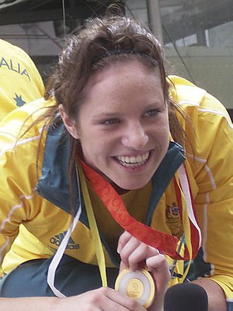 2008 FINA Swimming World Cup - Emily Seebohm, winner of the women's 50 m and 100 m backstroke and 100 m individual medley at the Sydney leg of the 2008 World Cup.
