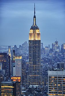 The Empire State Building is an iconic building of the 1930s. Empire State Building (HDR).jpg