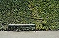 Empty bench at Great Parterre, Schönbrunn.jpg