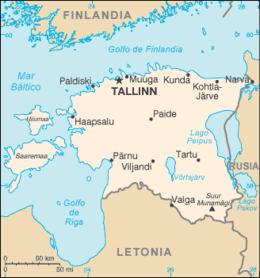Mapa da Estónia