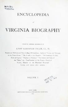 Encyclopedia of Virginia Biography volume 1.djvu