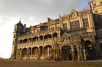 Rashtrapati Niwas - Entrance porch of Rashtrapati Niwas, Shimla.