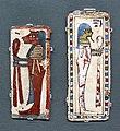 Epoca tarda, frammenti di cartonnage di sarcofago con i due figli di horus e figure femminili, 664-332 ac ca.jpg
