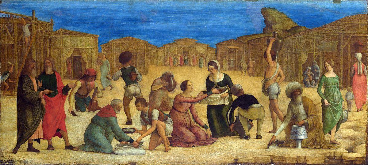 Ercole de' Roberti - The Israelites gathering Manna (National Gallery, London).jpg