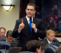 Eric Eisnaugle gestures in final debate as he promoted the Supreme Court division resolution.png