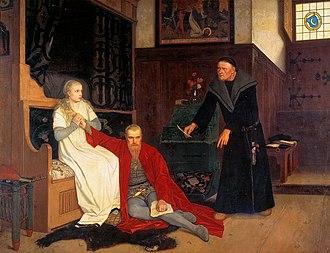 Karin Månsdotter - Karin Månsdotter, Eric XIV and Jöran Persson, in Georg von Rosen's painting of 1871