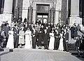 Esküvői csoportkép, 1946 Budapest.. Fortepan 105208.jpg